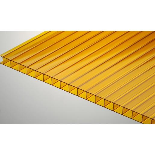 Сотовый поликарбонат 6 мм (бронза)