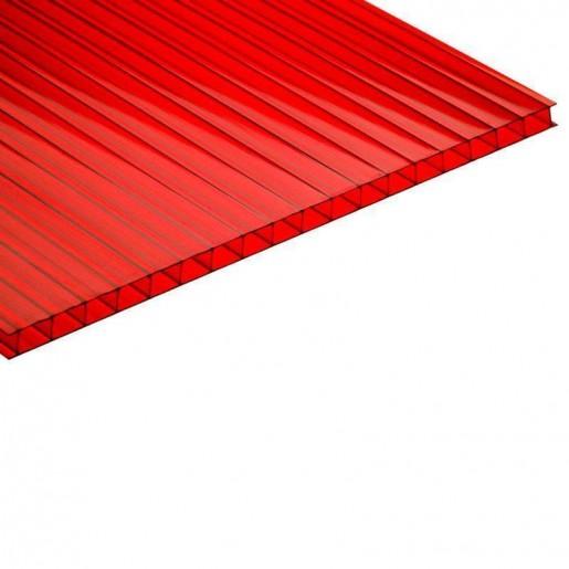 Сотовый поликарбонат 4 мм (красный)