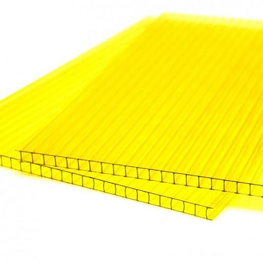 Сотовый поликарбонат 6 мм (желтый)